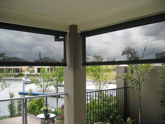 Gear Operated Straight Drop Awnings Gold Coast Bcs Awnings Blinds